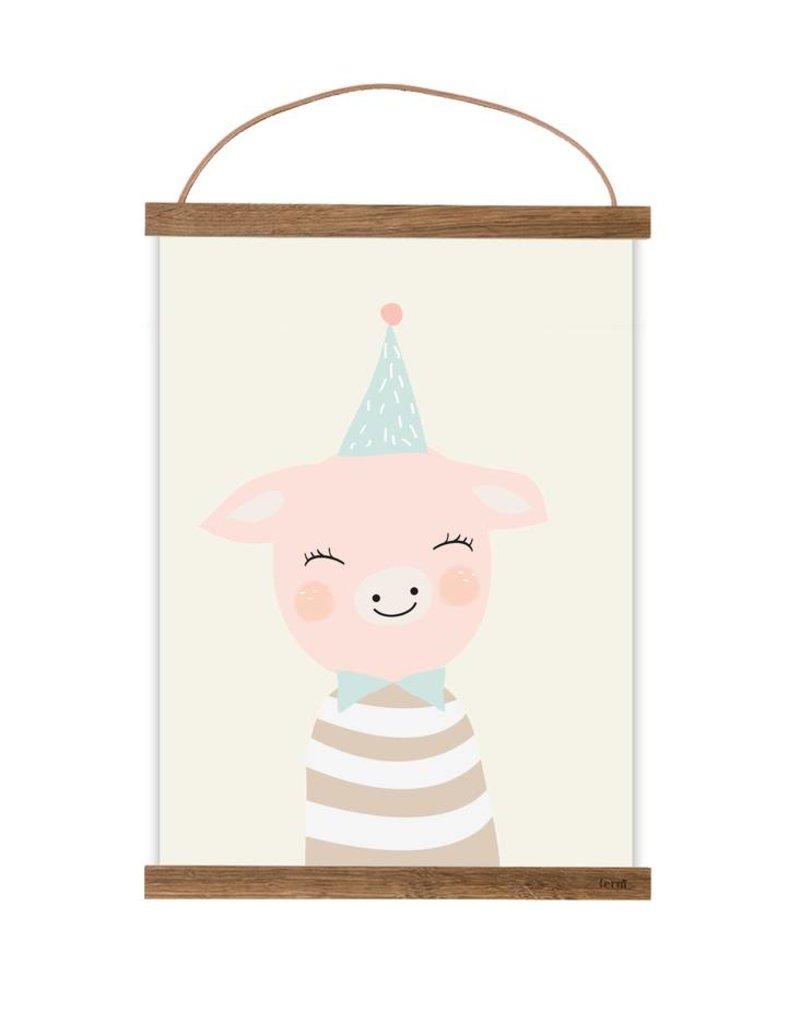 Poster für's Kinderzimmer - Frau von Schwein