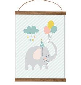 Poster Kleiner Partyelefant