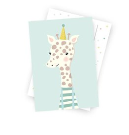 Postkarte Kleine Giraffe