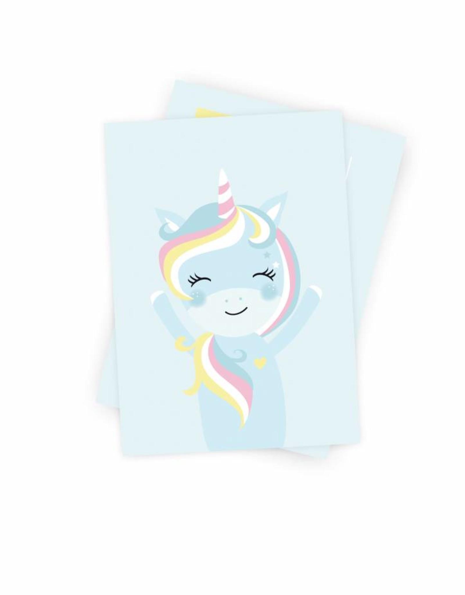 Poskarte Miss Unicorn - Original Mimirella Illustration