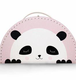 Kinderkoffer Panda rosa