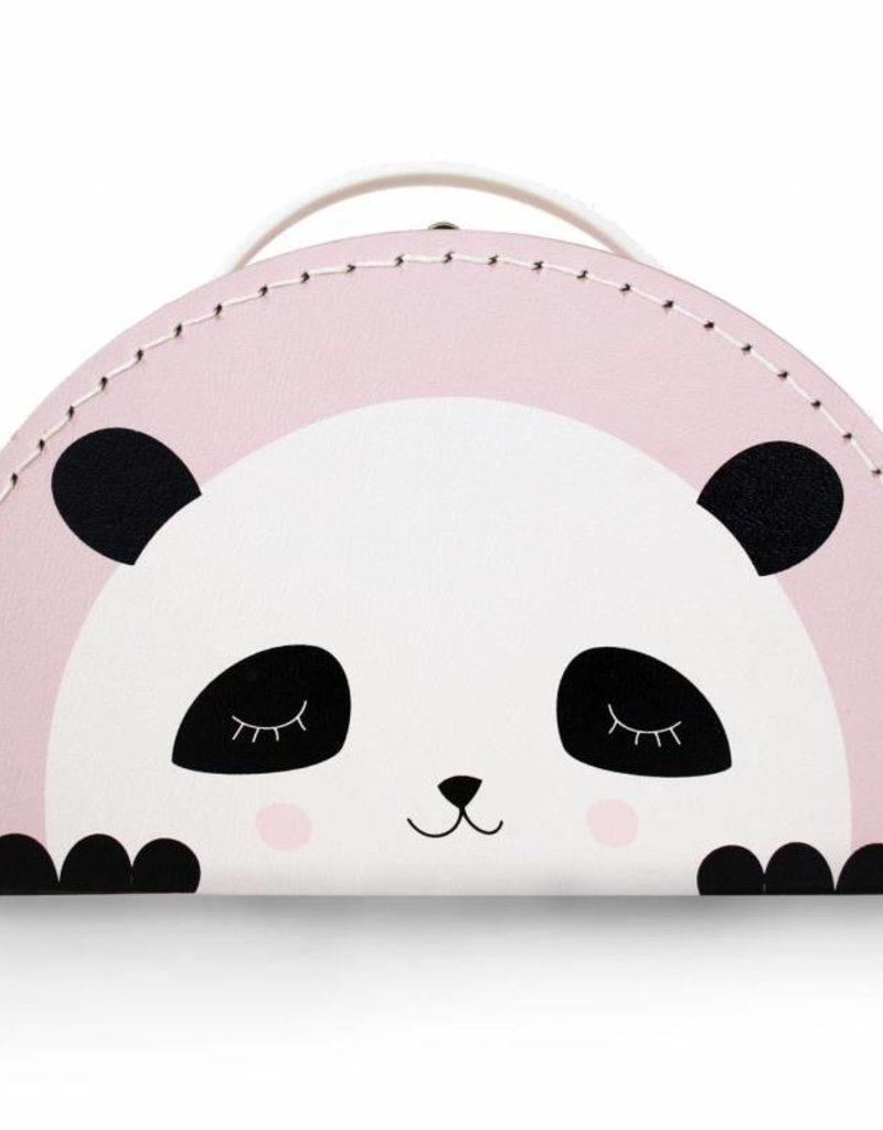 Kinderkoffer Panda rosa- Design by Mimirella - Copy