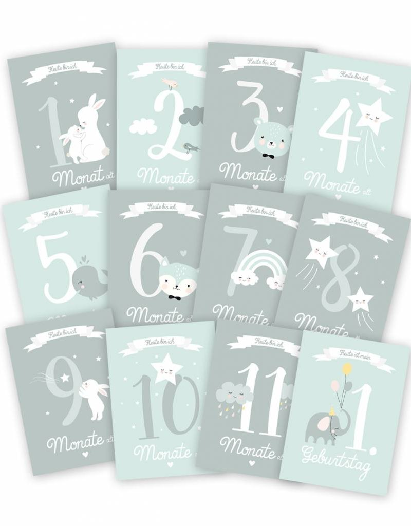 Mimirella Meilensteinkarten-Halte die schönsten Moments deines Babys fest