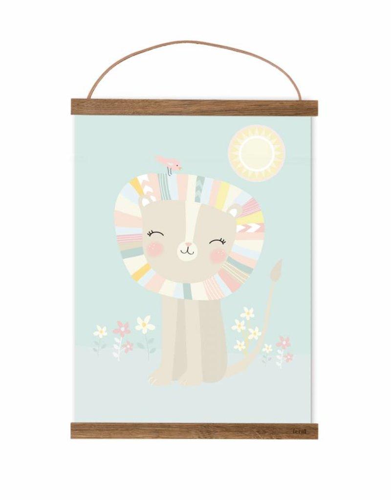 Poster für's Kinderzimmer - Kleines Löwenmädchen