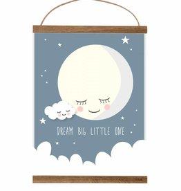 Poster Mond nachtblau