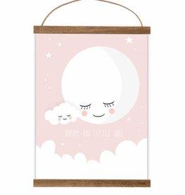 Poster Mond rosa