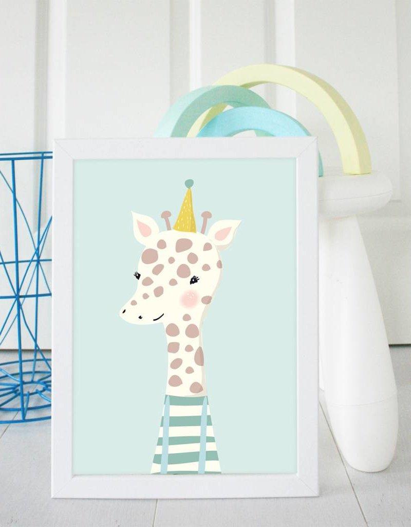 Poster für's Kinderzimmer-Kleine Giraffe