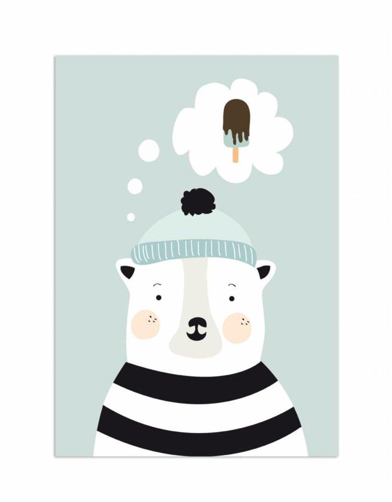 Poster für's Kinderzimmer - Herr Eisbär
