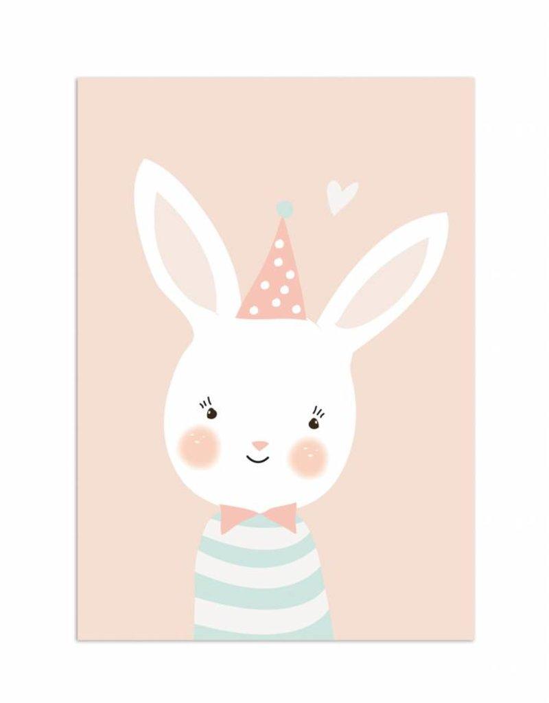 Poster für's Kinderzimmer - Fräulein Hase