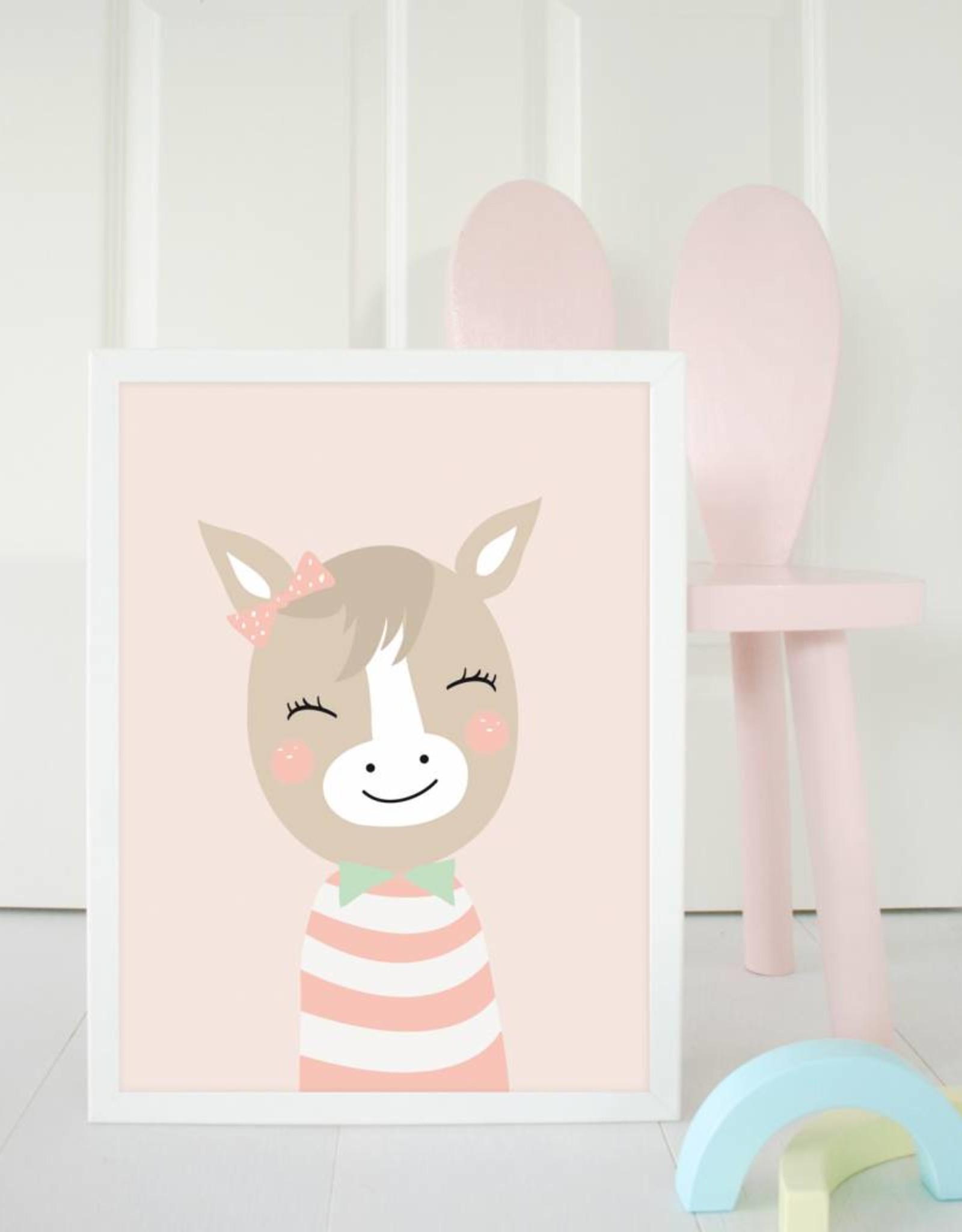 Poster für's Kinderzimmer-Fräulein Pferd