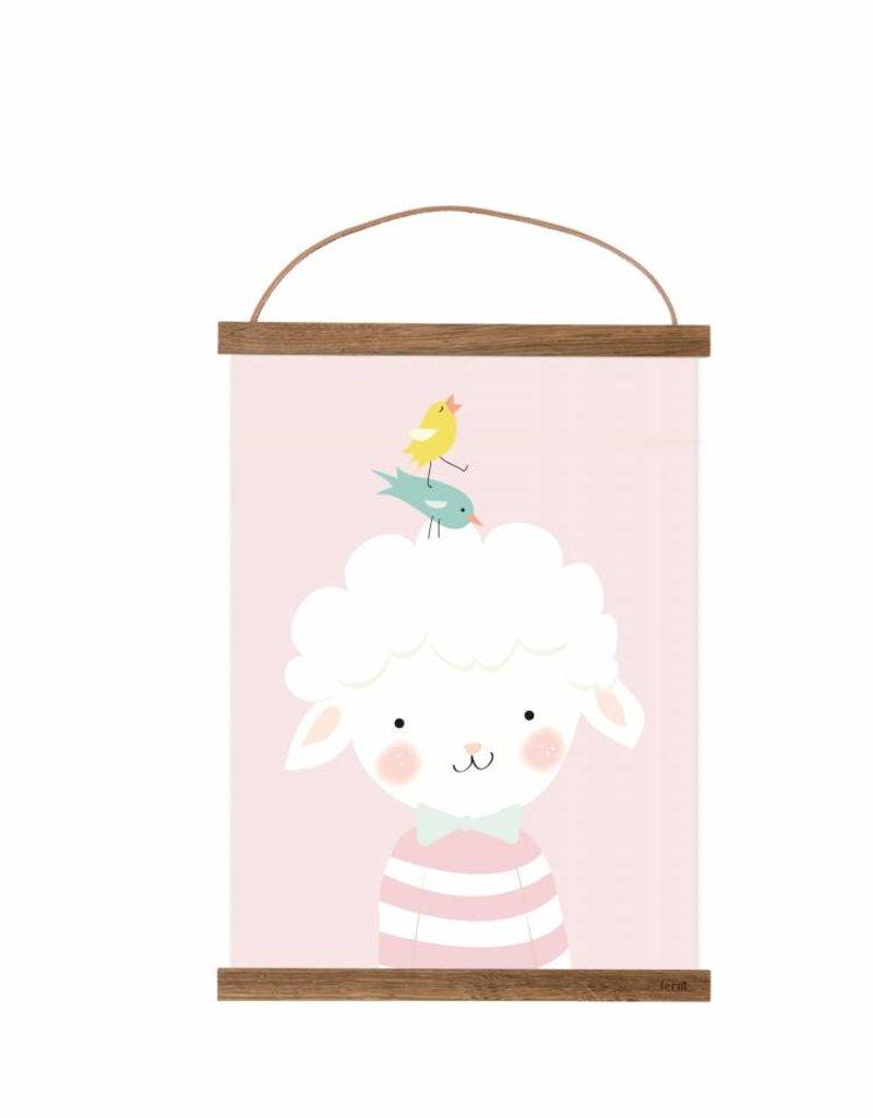 Poster für's Kinderzimmer - Kleines Lämmchen