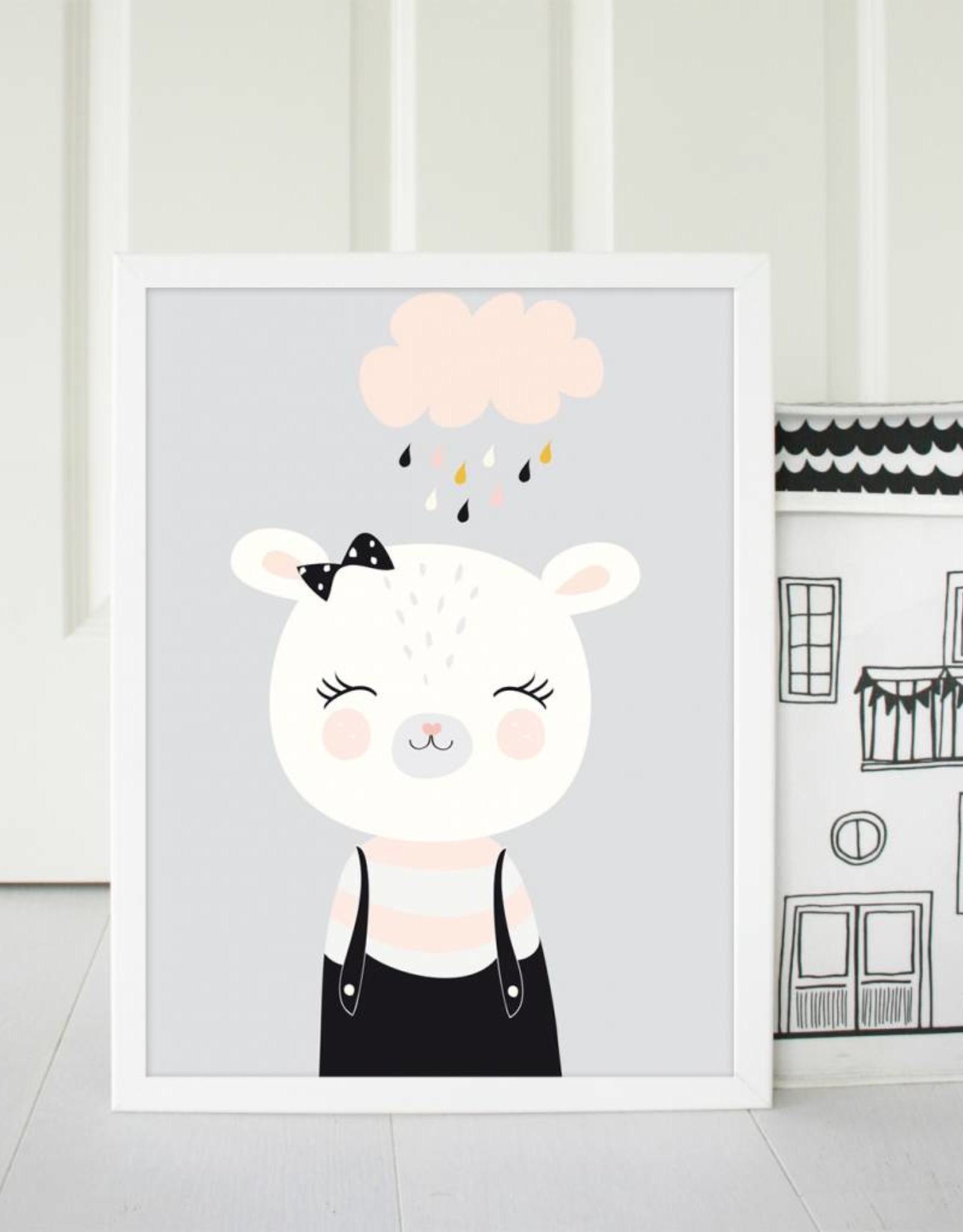 Poster für's Kinderzimmer - Fräulein Bär
