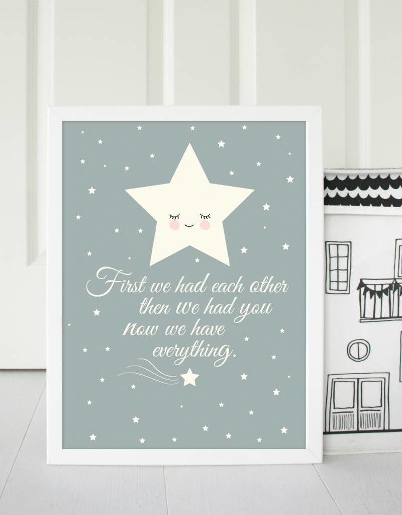 Poster für\'s Kinderzimmer - Stern