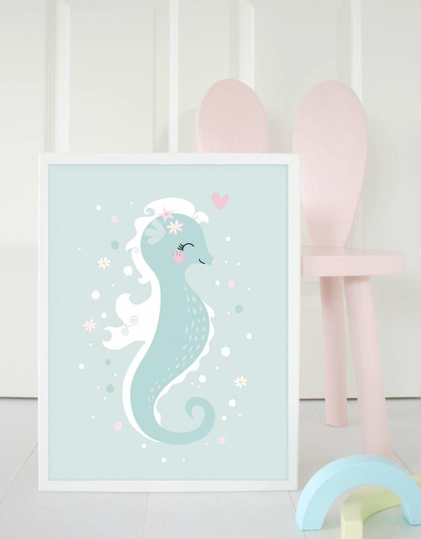 Poster für's Kinderzimmer - Kleines Seepferdchen