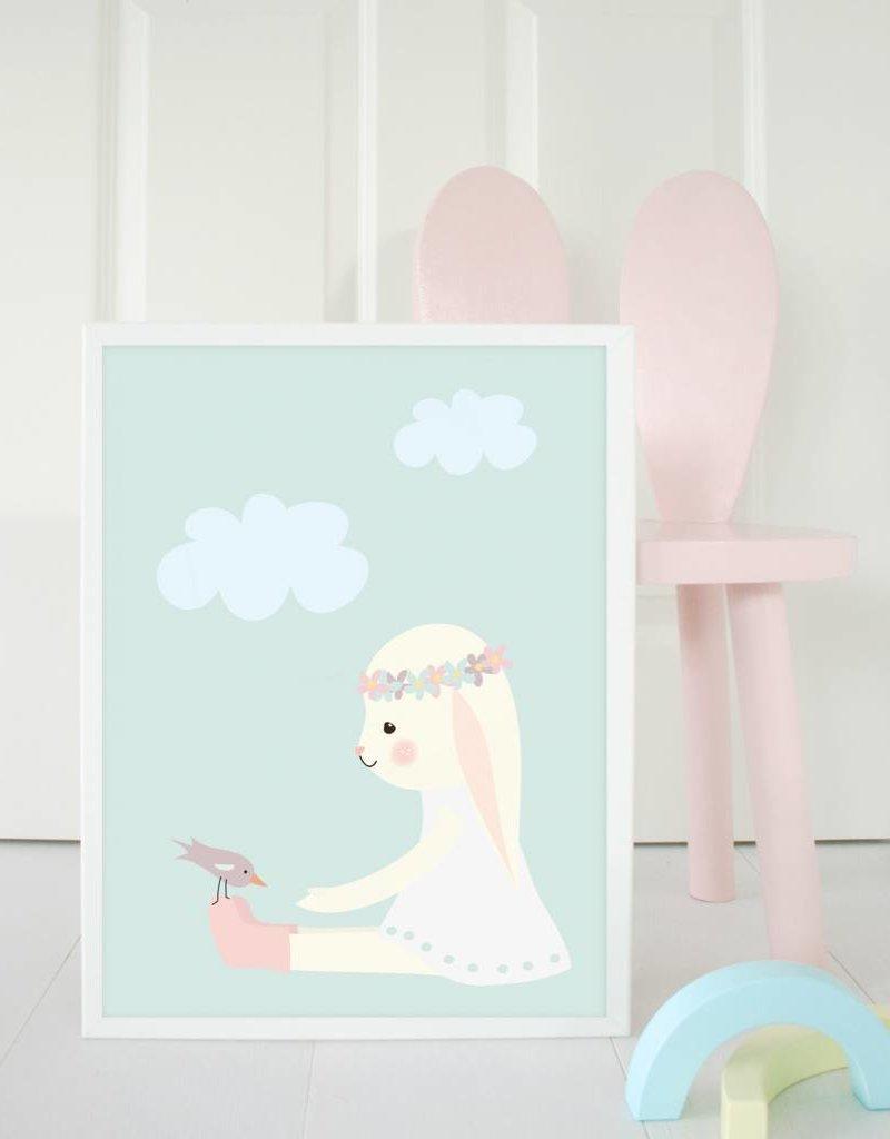 Poster für's Kinderzimmer - Hanni Hase