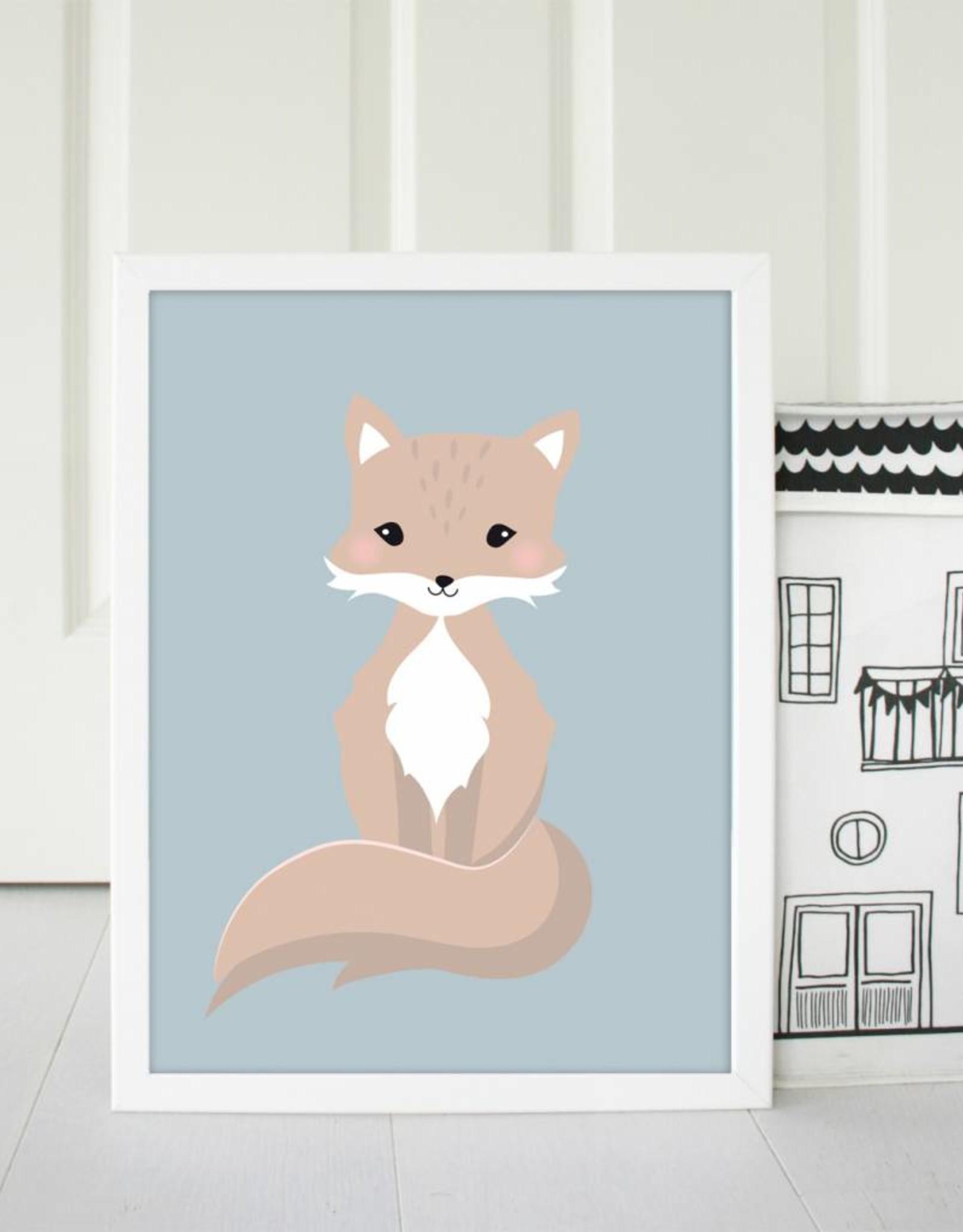 Poster für's Kinderzimmer - Kleiner Fuchsjunge