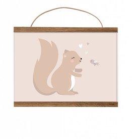 Poster kleines Eichhörnchen