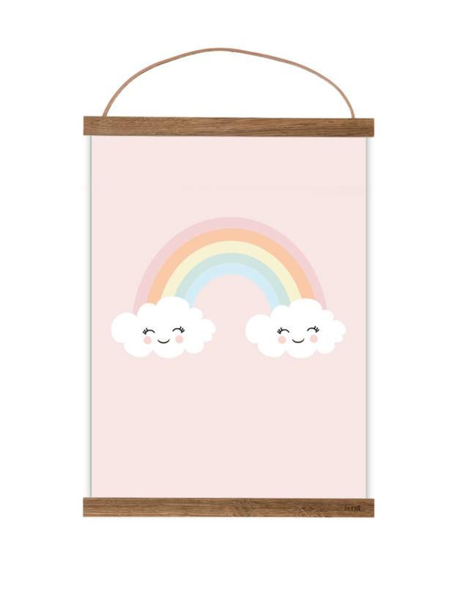 Poster für's Kinderzimmer - Happy Rainbow