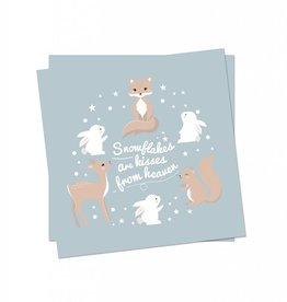 Weihnachtskarte Wintertiere