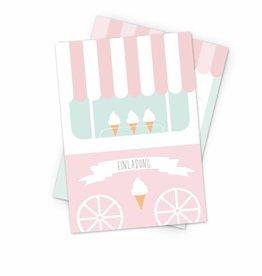 Einladung Ice Cream Party - 6er Set
