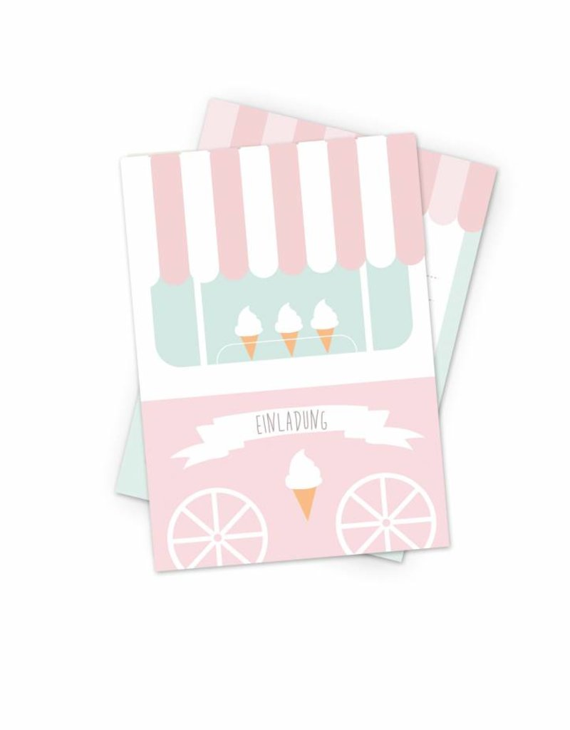 Unique Mimirella invitation for your next Ice Cream themed  birthday party