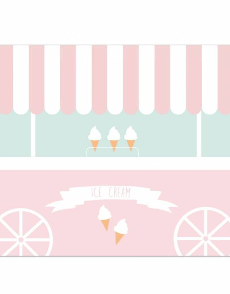 Placemat Ice Cream Truck - 6 pieces