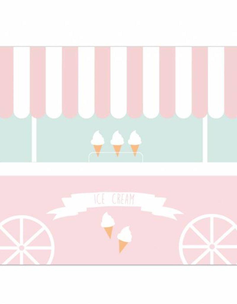 Platzset Eiswagen - für eine bunte Geburtstagsparty