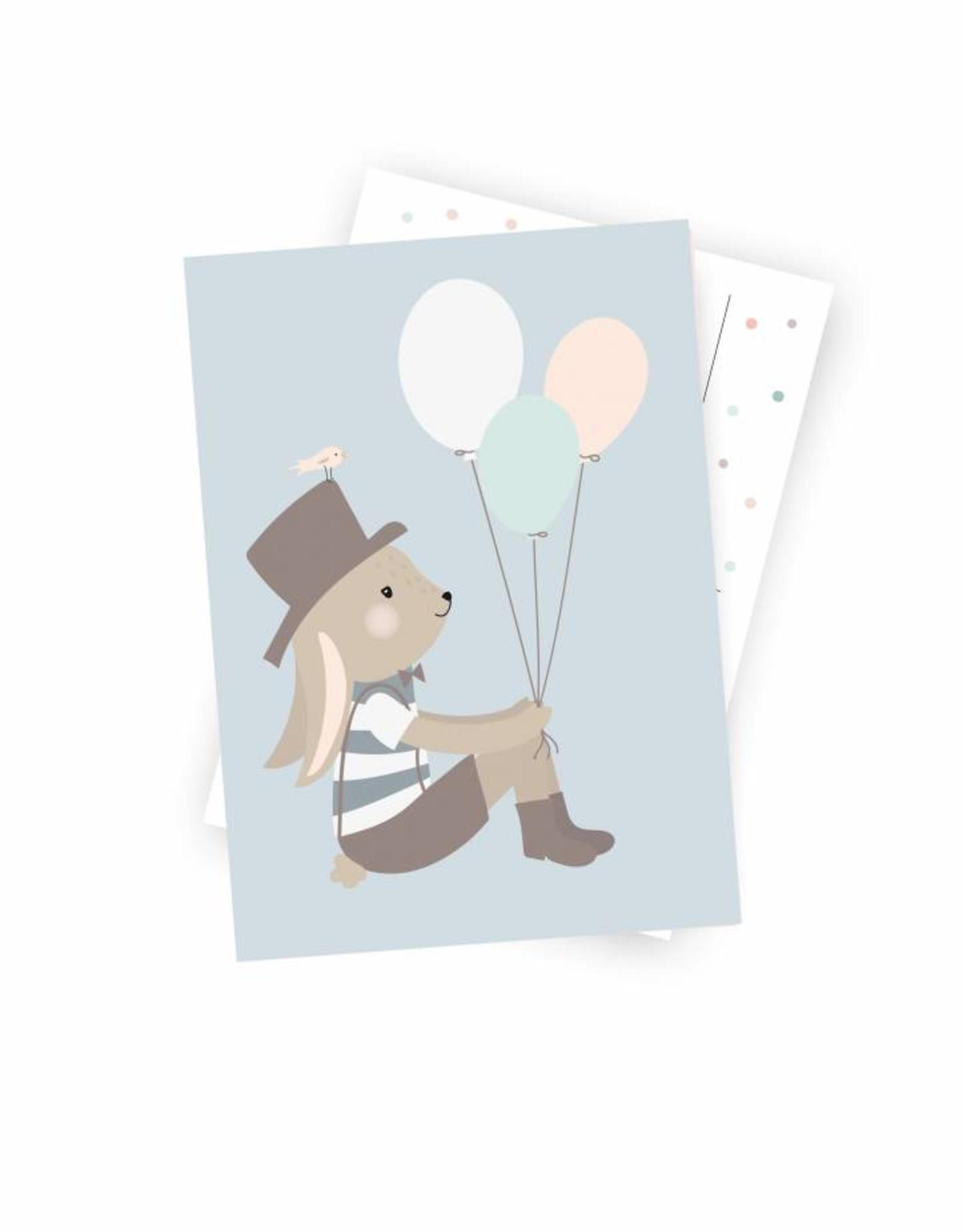 Postkarte Herr Hase