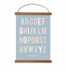 Poster ABC light pastell