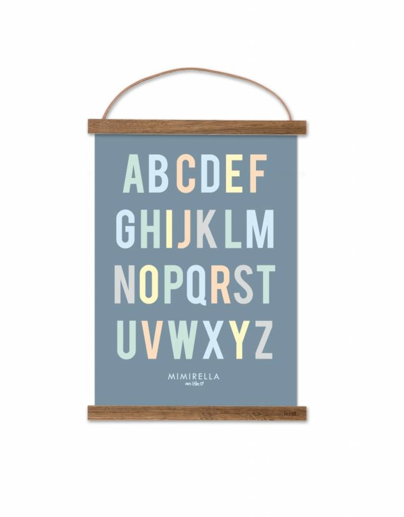 Poster für's Kinderzimmer - ABC light pastell
