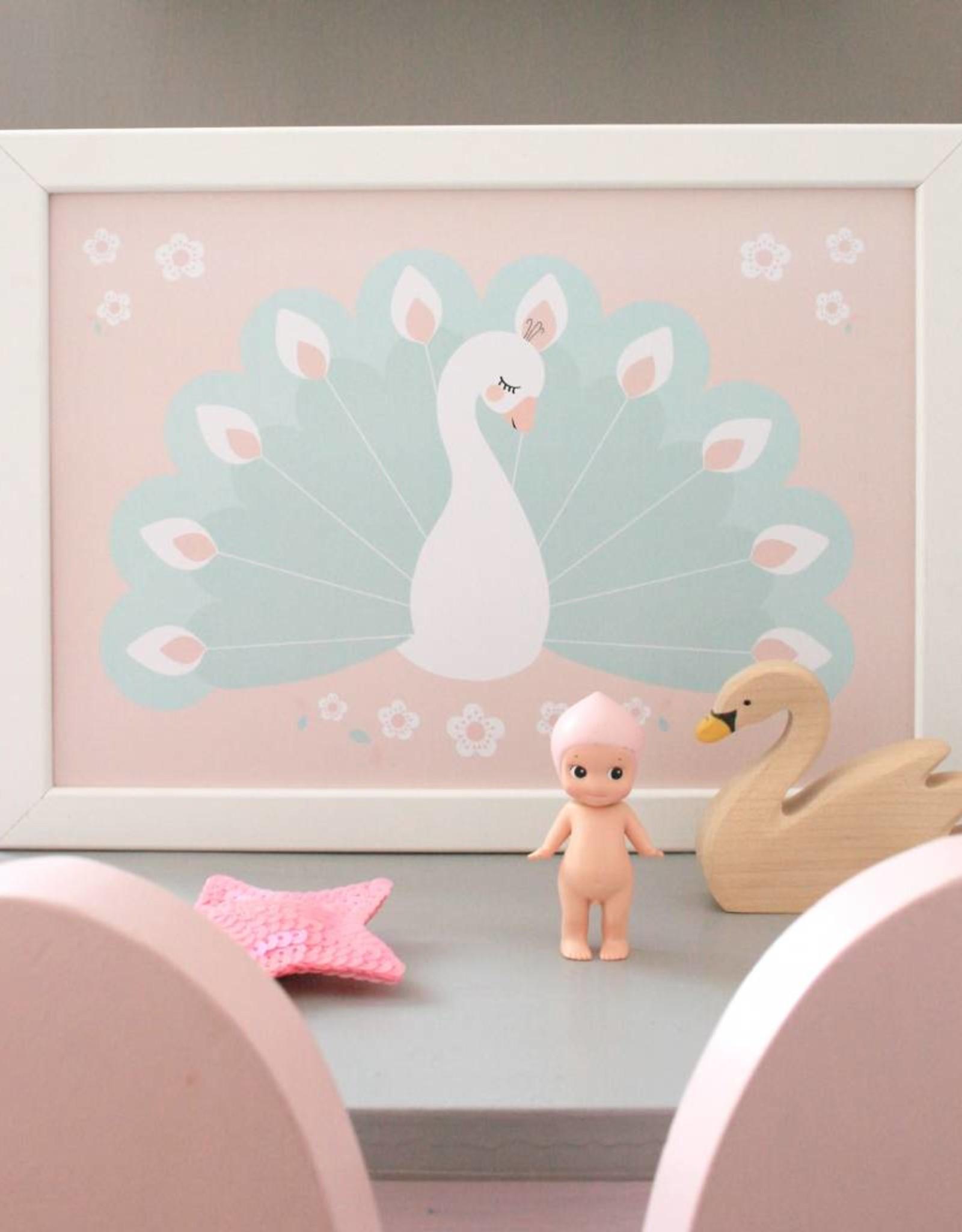 Poster für's Kinderzimmer - Fräuleon Pfau