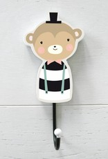 Wallhook for the kids room Mr. Monkey