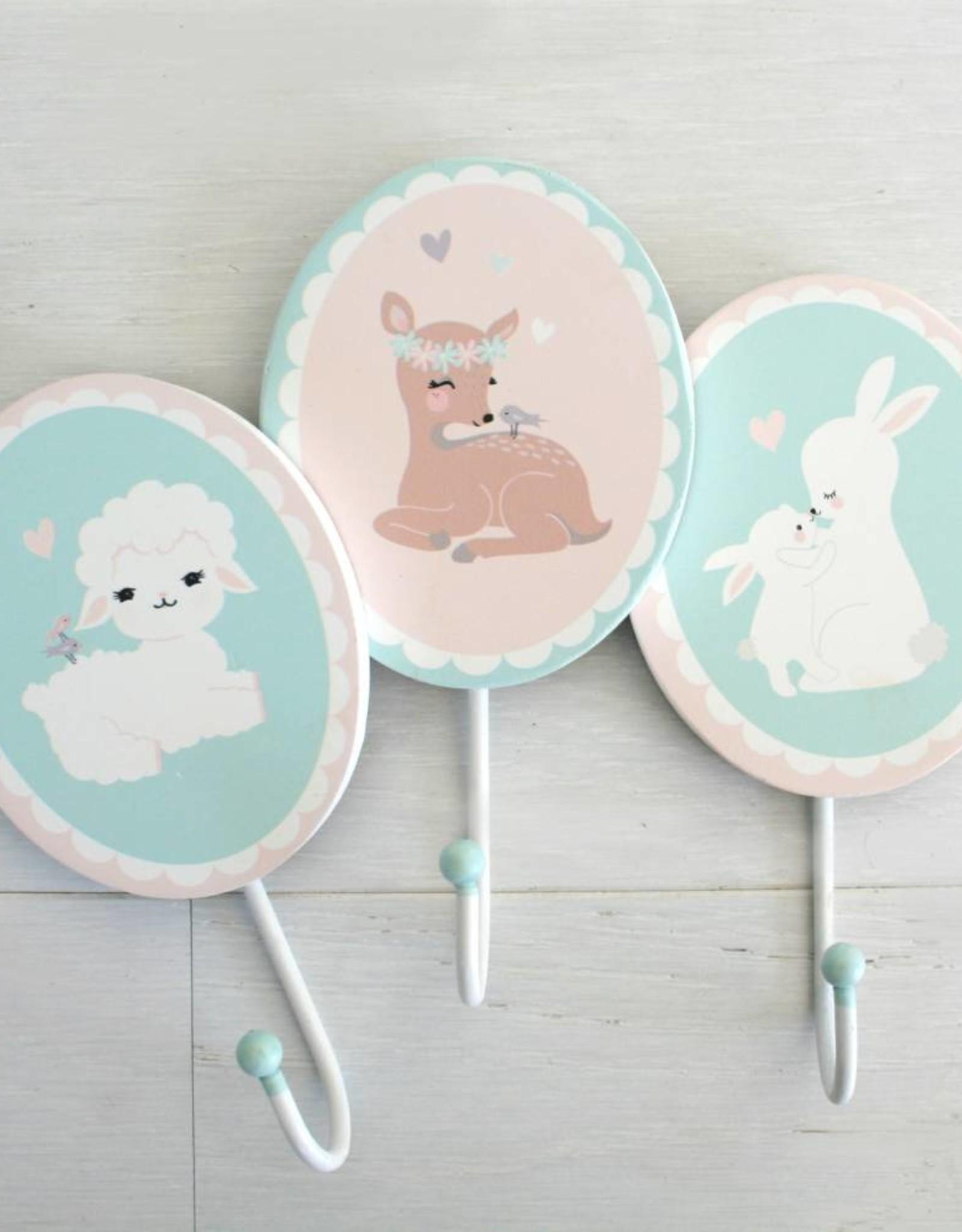 Wandhaken für's Kinderzimmer Kleines Rehmädchen