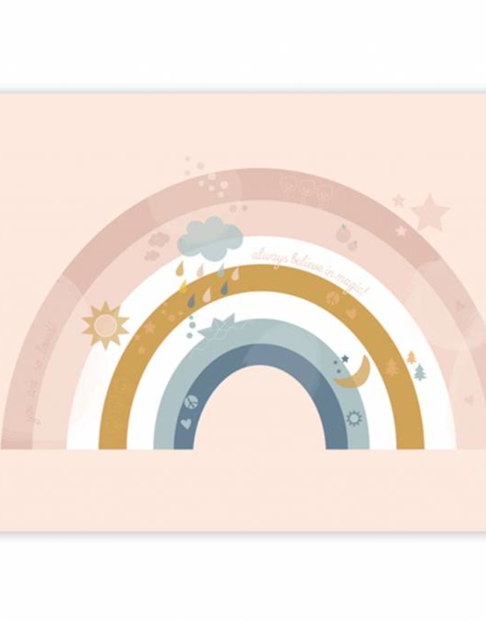Poster für's Kinderzimmer - Little Rainbow