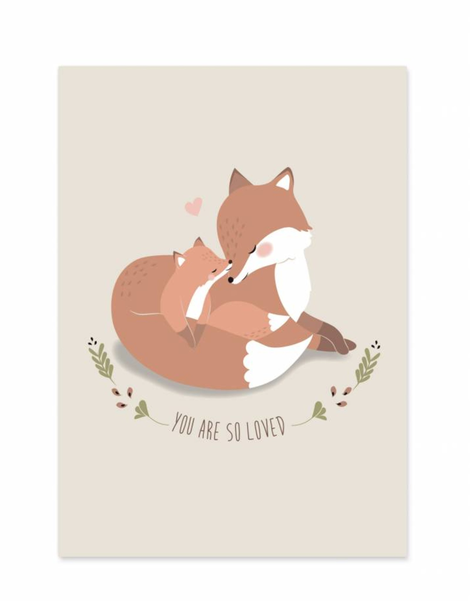 Poster für's Kinderzimmer - Mama Fuchs