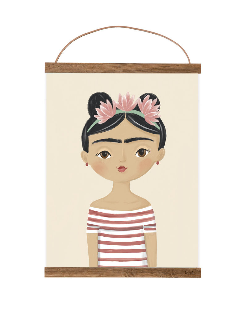 Poster für's Kinderzimmer - Frida Kahlo
