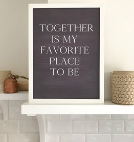 "Poster "" Together"" im Tafellook"