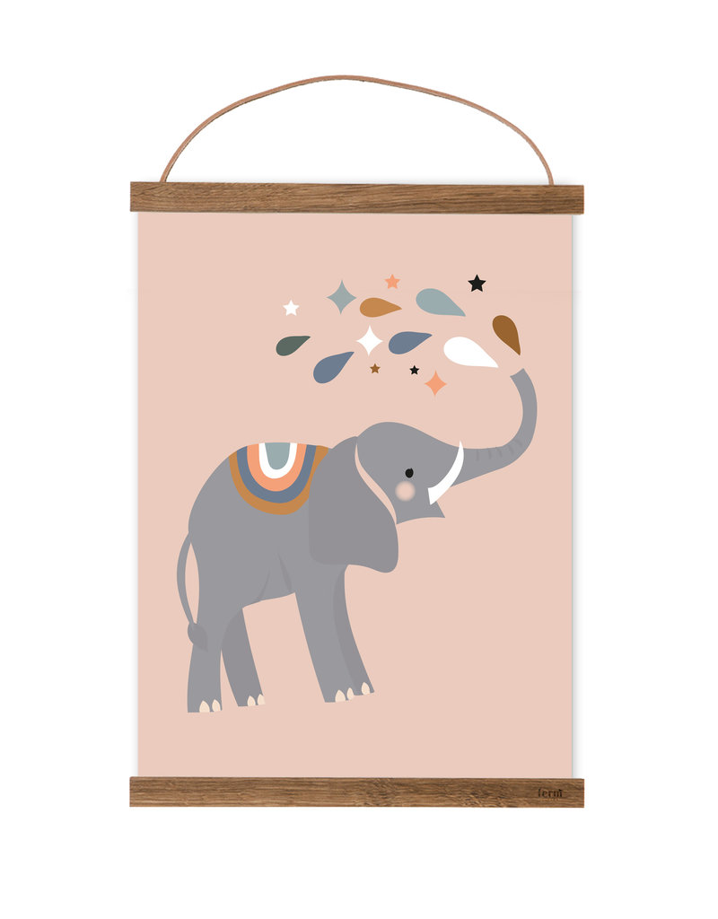 Poster für's Kinderzimmer - Emma Elefant