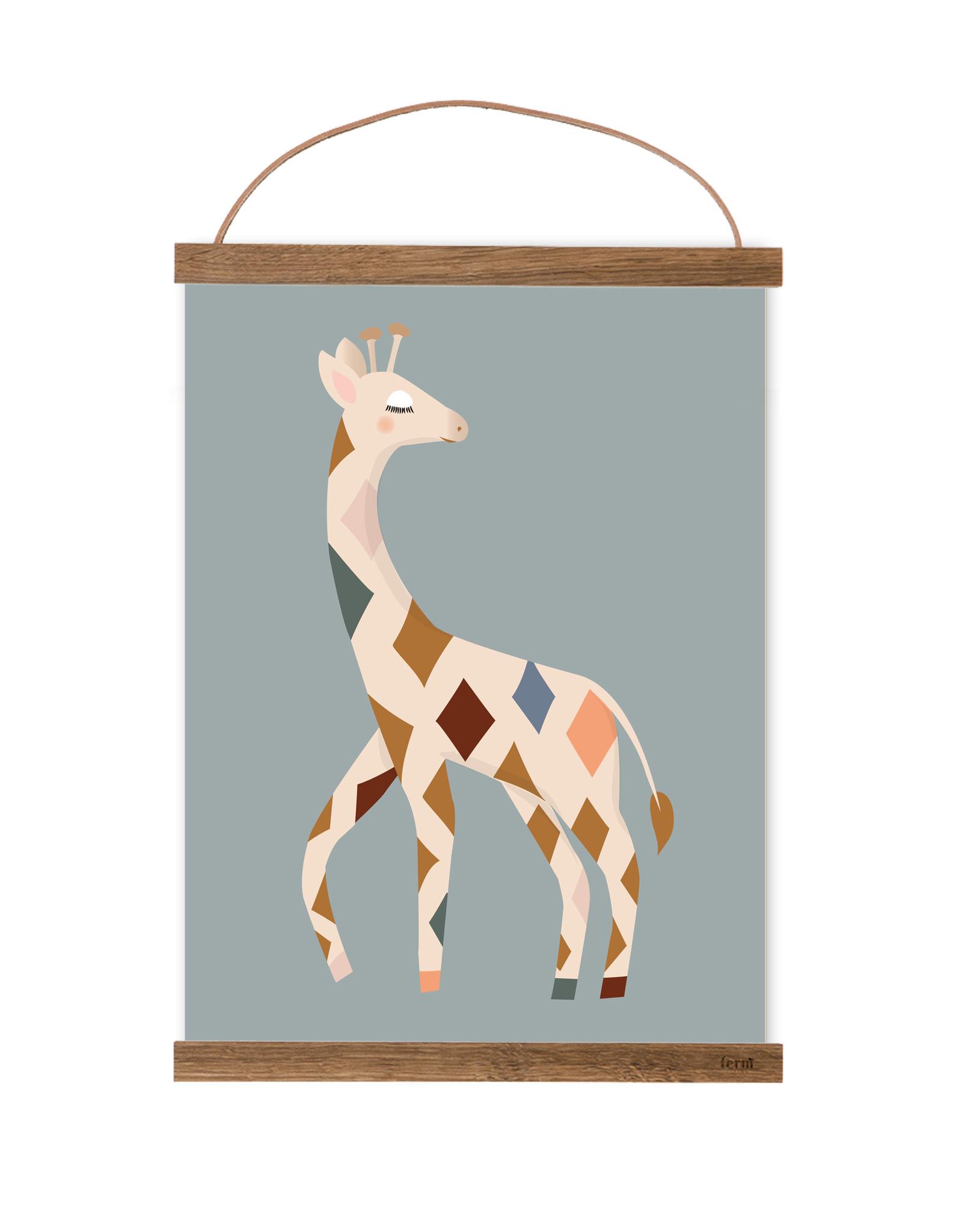 Poster für's Kinderzimmer - Karla Giraffe