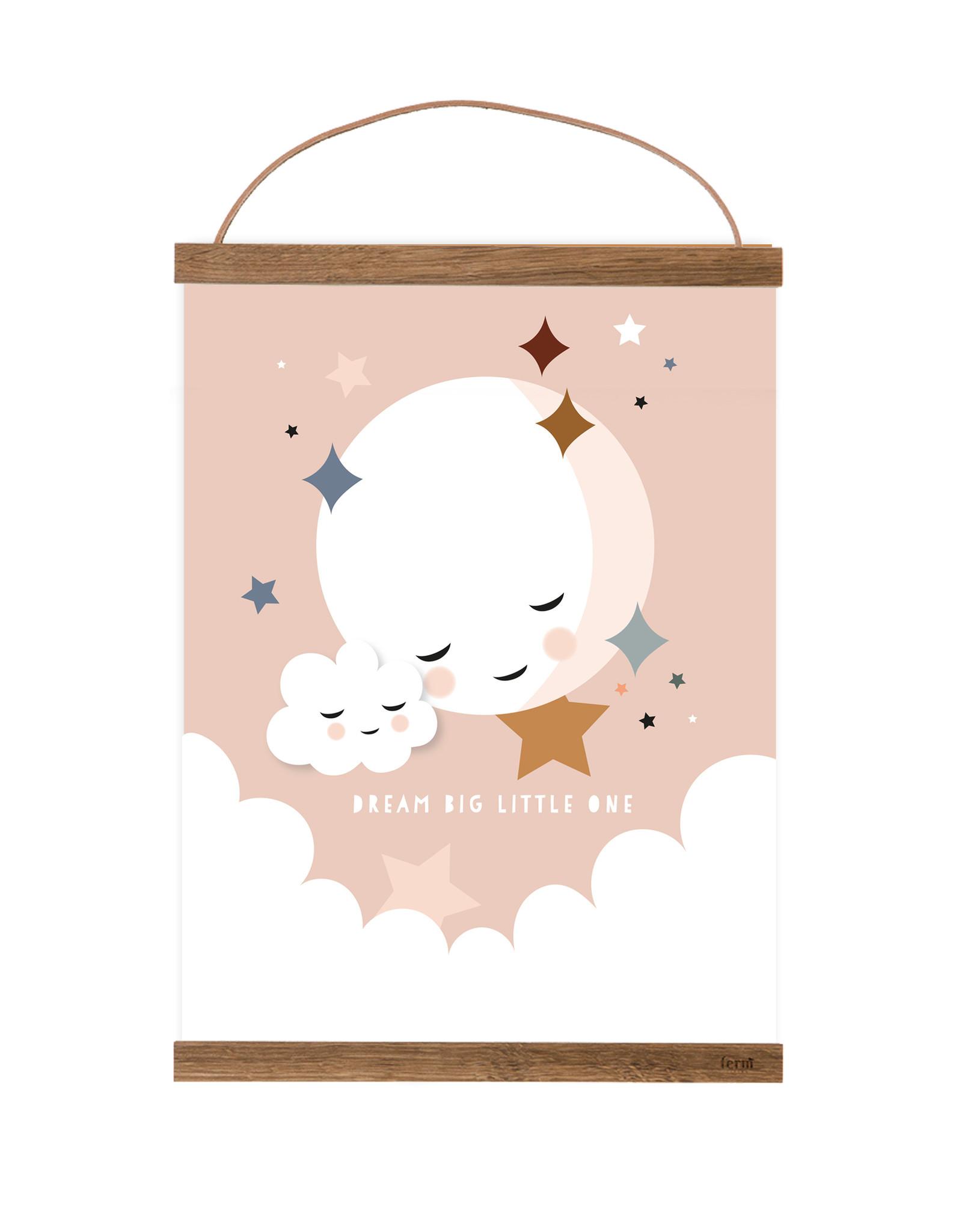 Poster für's Kinderzimmer - Kleiner altrosa