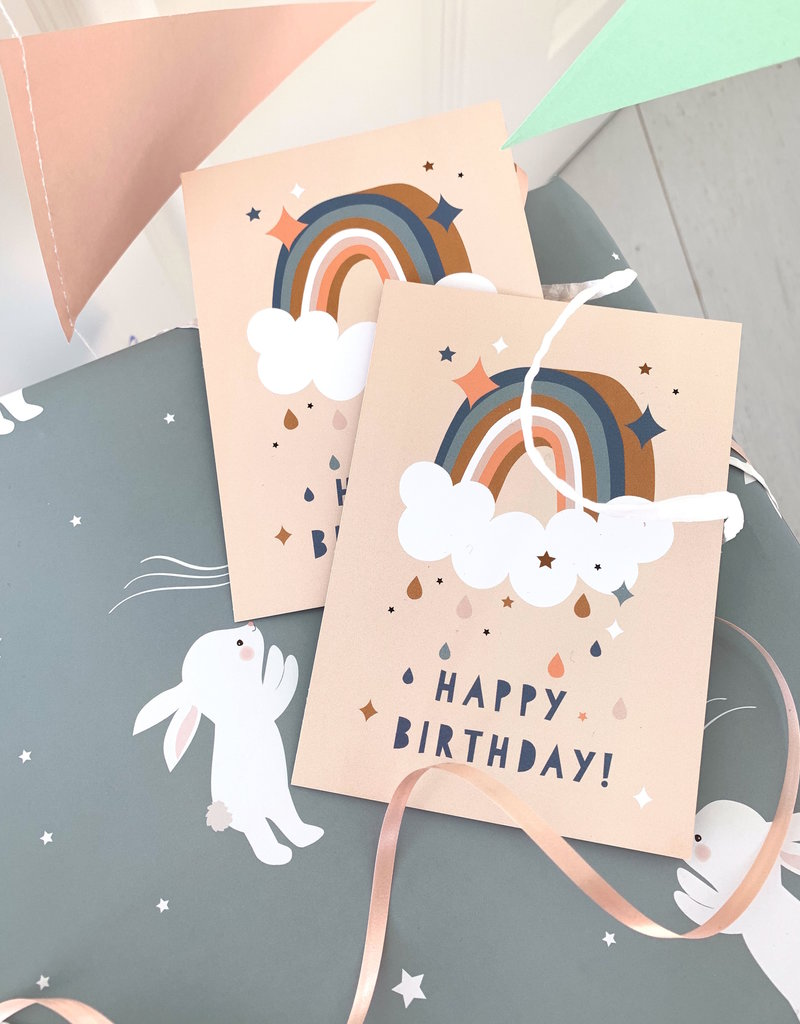 Glückwunschkarte Happy Rainbow für Geburtstagsgrüße