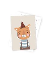 Postkarte Kleiner Tiger