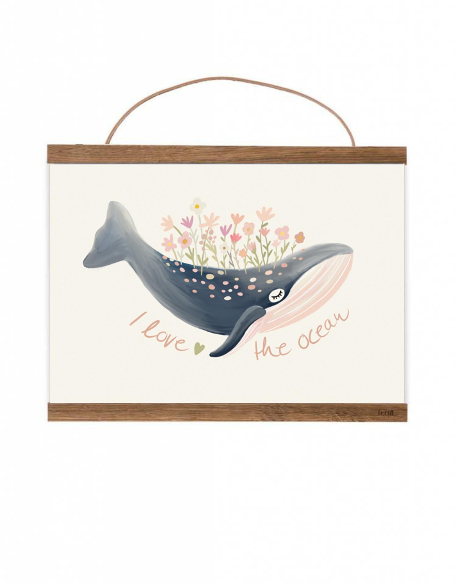 Poster für's Kinderzimmer - Ocean Love