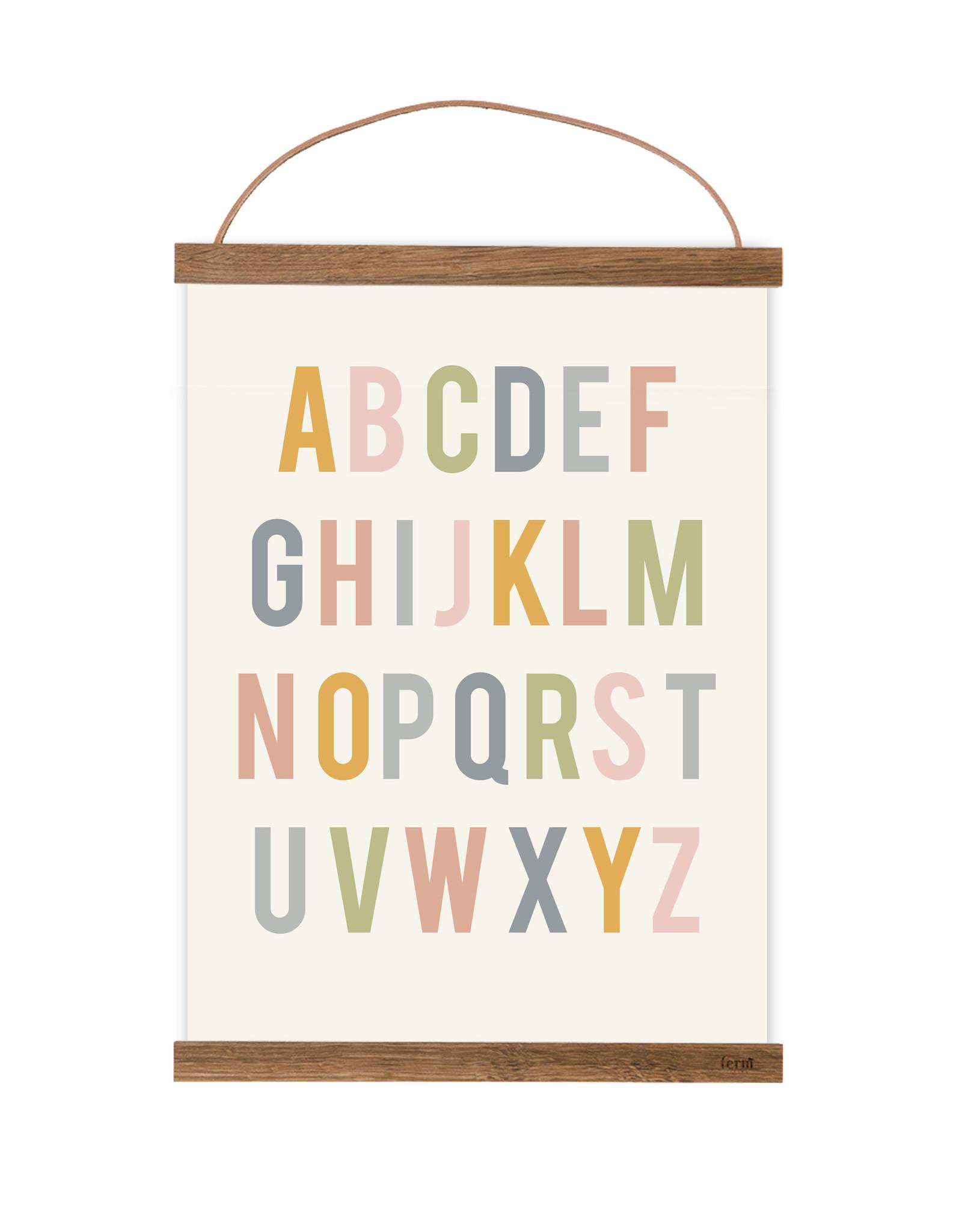 Poster für's Kinderzimmer - ABC natur
