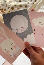 Set of postcards Bunny, Moon & Cloud