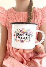 High quality emaille mug Beautiful Mama
