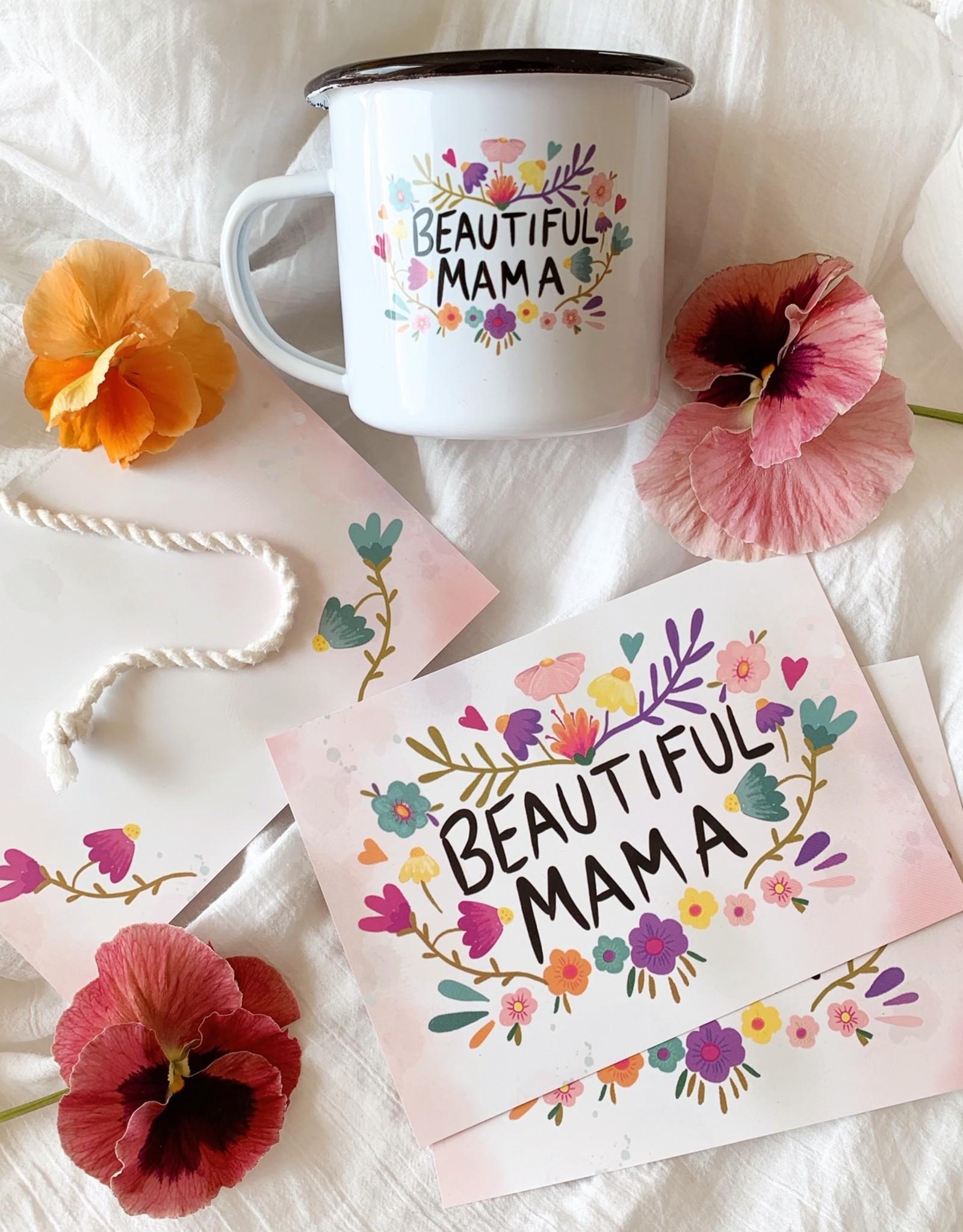 Grußkarte Beautiful Mama