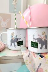 High quality emaille mug Beautiful Mama - Copy