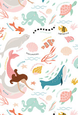 Wrapping paper Under the sea - original Mimirella illustration
