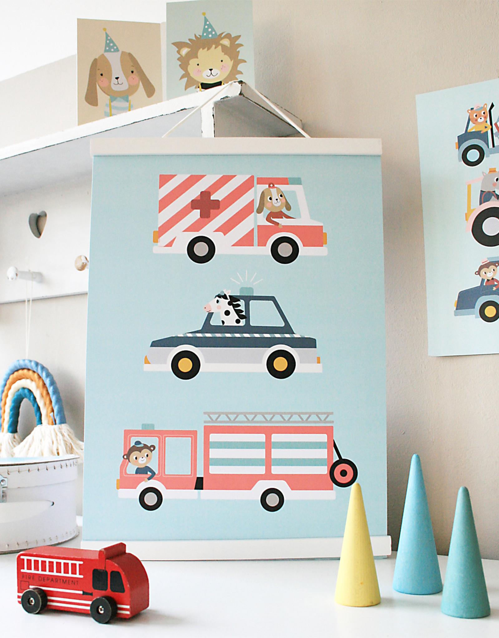 Poster für's Kinderzimmer - Little Heroes